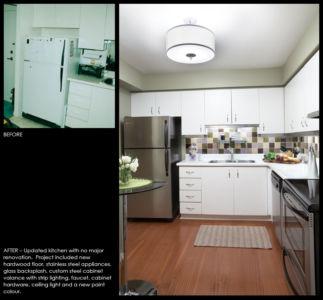 Condominium kitchen reface