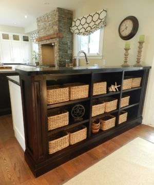 Kitchen - Modern rustic tall bar height bookcase