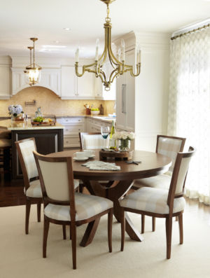 Transitional Kitchen eating area