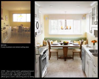 Custom kitchen banquette