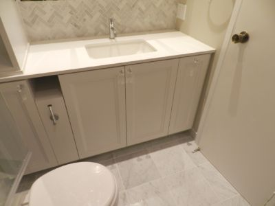 White transitional Custom Vanity