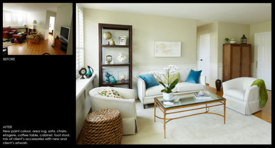 Condominium Living room makeover