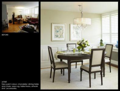 Condominium Dining Room makeover