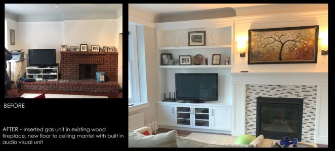 Before After Custom Fireplace Millwork