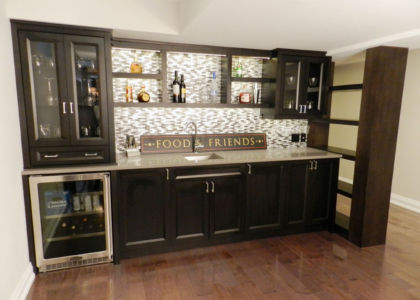 Custom maple Basement Bar