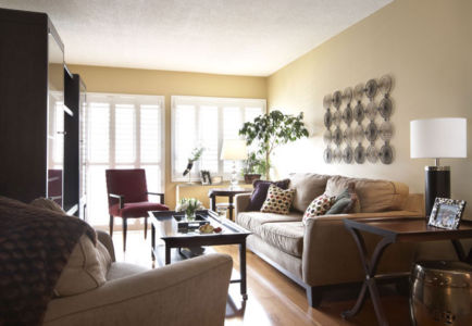 Downtown Toronto Condominium Living room
