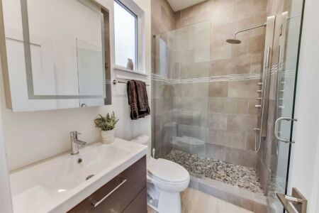 Shower Modern Bath Grey Pebble Floor