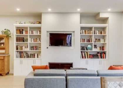 Modern Fireplace Built In Millwork Refined By Design Toronto