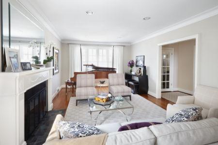 Luxurious Purple & Grey Living Room view 2