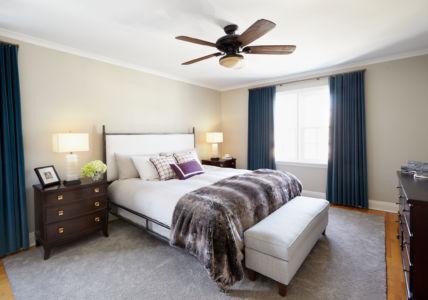 Luxurious Teal Master Bedroom