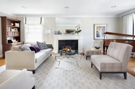 Luxurious Purple & Grey Living Room