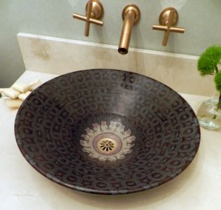 A Botanical Serpentine Vessel sink