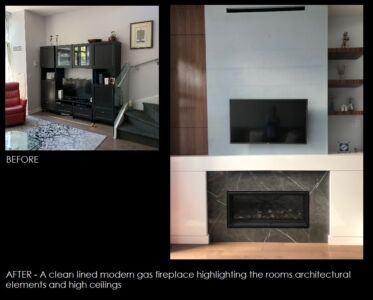 Condo Fireplace BEFORE AFTER