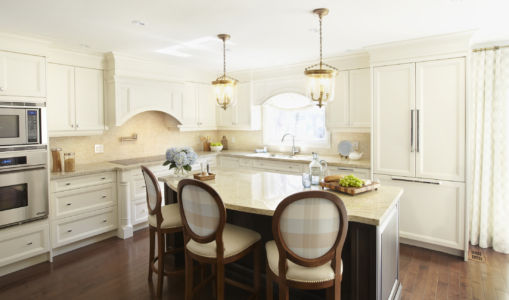 Transitional custom kitchen