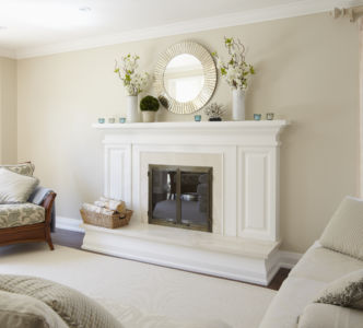 Fireplace mantel facelift