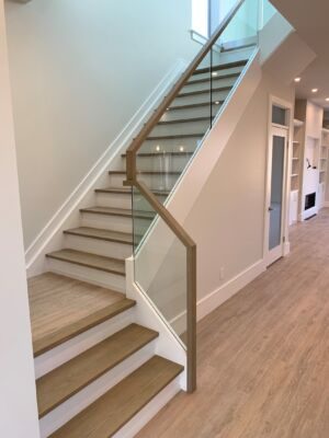 Glass Stair Railing Waterfall Modern Toronto