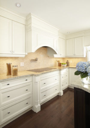 Transitional Kitchen Custom hood